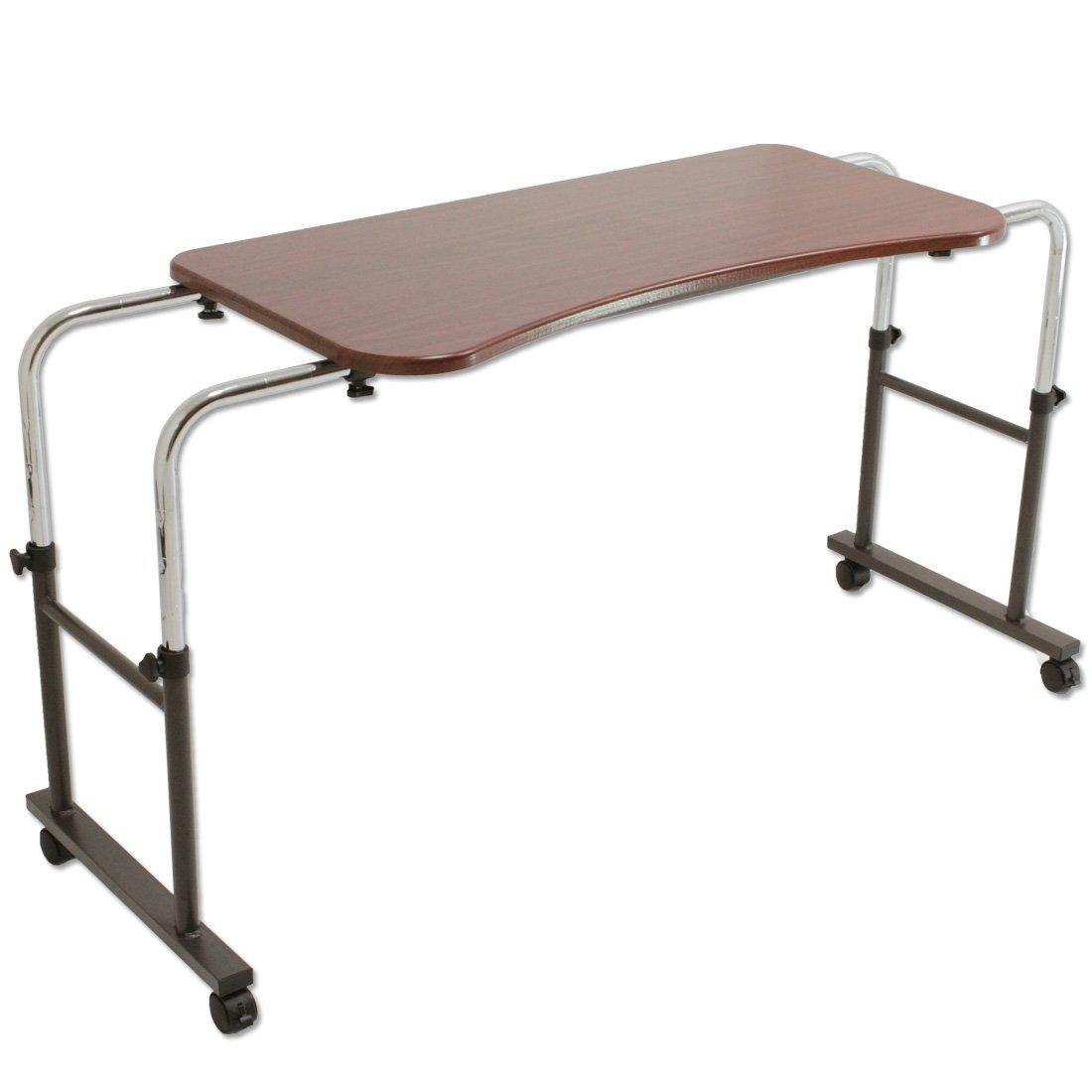 タンスのゲン 介護用ベッドテーブル キャスター付き 伸縮式 高さ調節可能 Licht リヒト 65090050BR